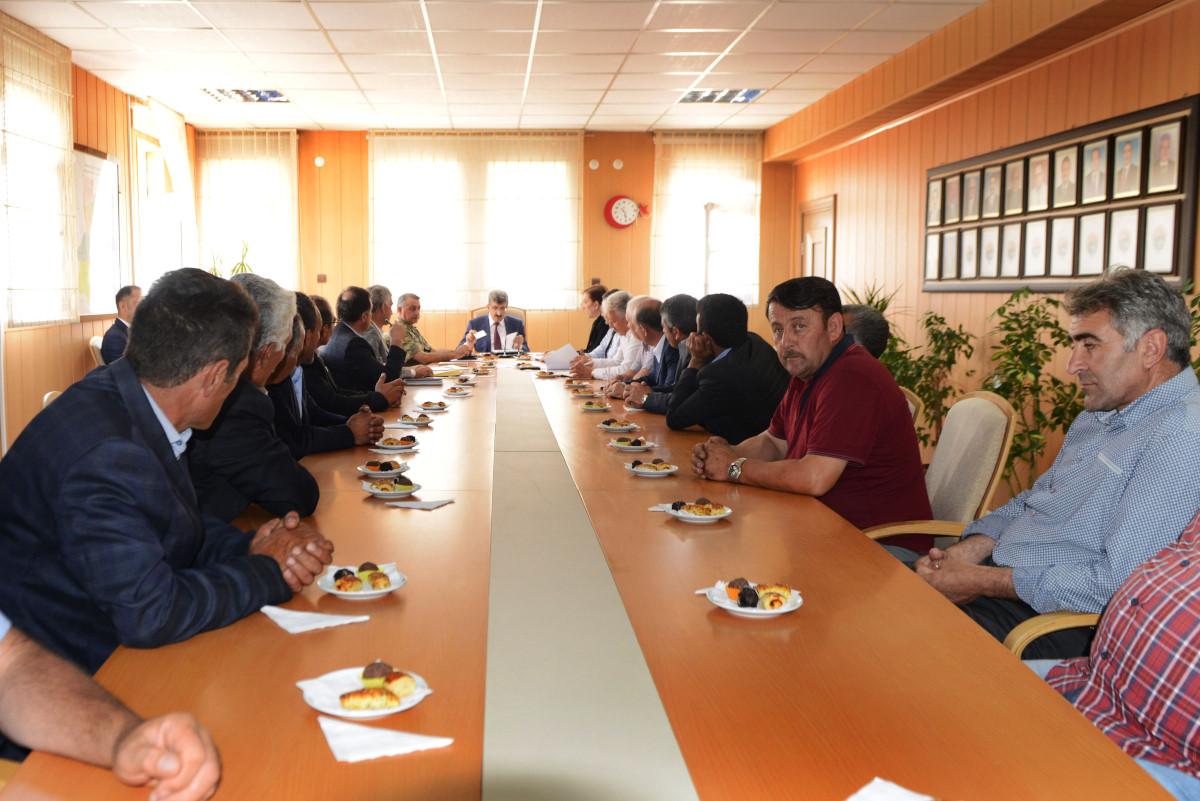 VALİ BİLMEZ'İN 3'NCÜ MUHTARLAR TOPLANTISI (15.08.2017)